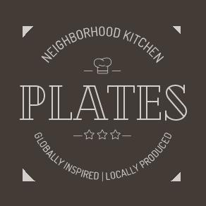 Plates Kitchen Sticky Logo